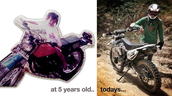 Sindhu kecil dan Shindu sekarang tetap mencintai motor cross dan alam