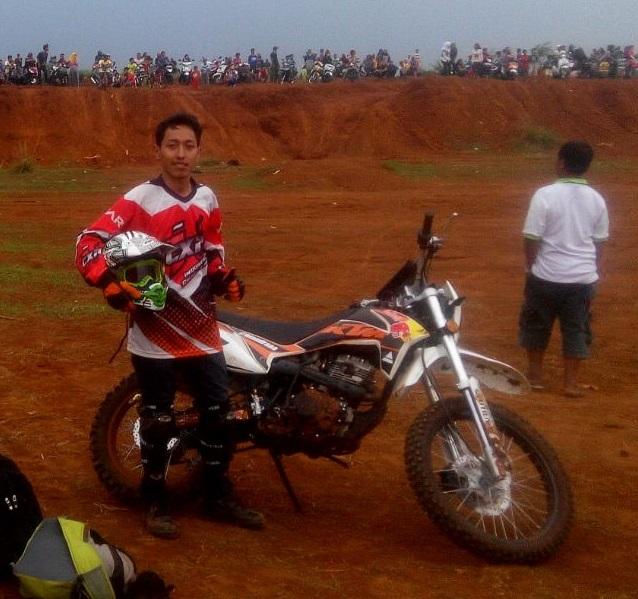 Raditya Biandra saat bermain di Track Sawangan