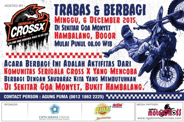 Poster Serigala CrossX Trabas dan Berbagi